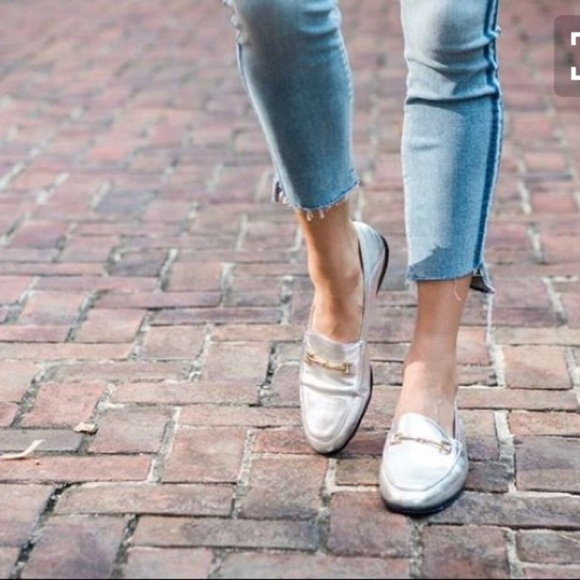 e50bad52eff Sam Edelman Loraine silver loafers size 8 NWB